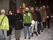 Unsere Gruppe im Schnee