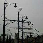 Nostalgische Straßenbeleuchtung in Debrecen