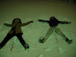 Schneeengel in Uppsala