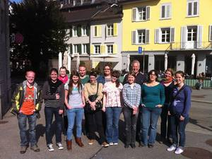 Gruppenbild Exkursion St. Gallen