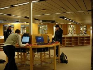 In der Universitätsbibliothek Stockholm